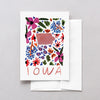 Iowa American Gouache Greeting Card