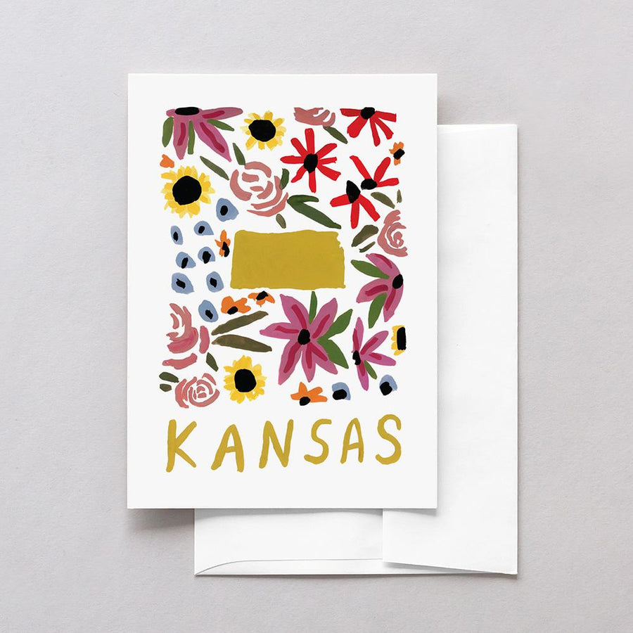 Kansas American Gouache Greeting Card