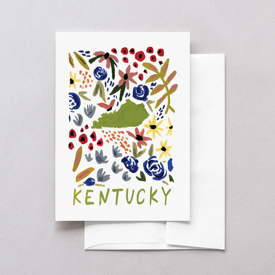 Kentucky American Gouache Greeting Card