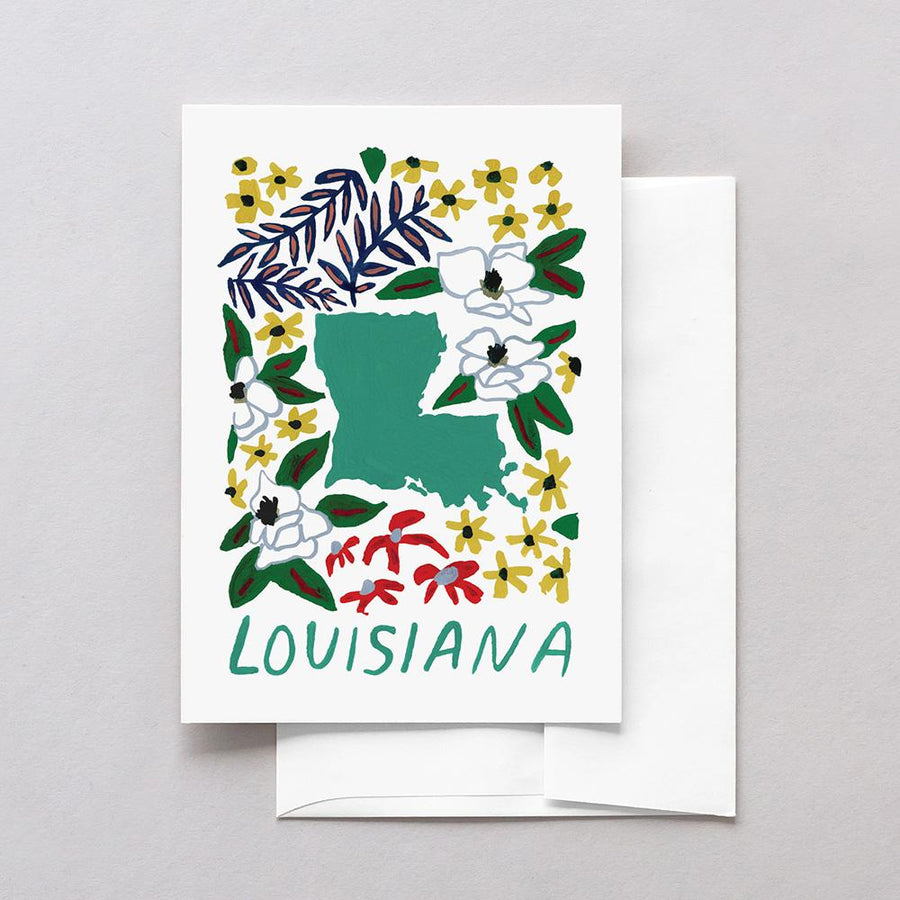 Louisiana American Gouache Greeting Card