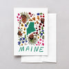 Maine American Gouache Greeting Card