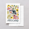 Maryland American Gouache Greeting Card