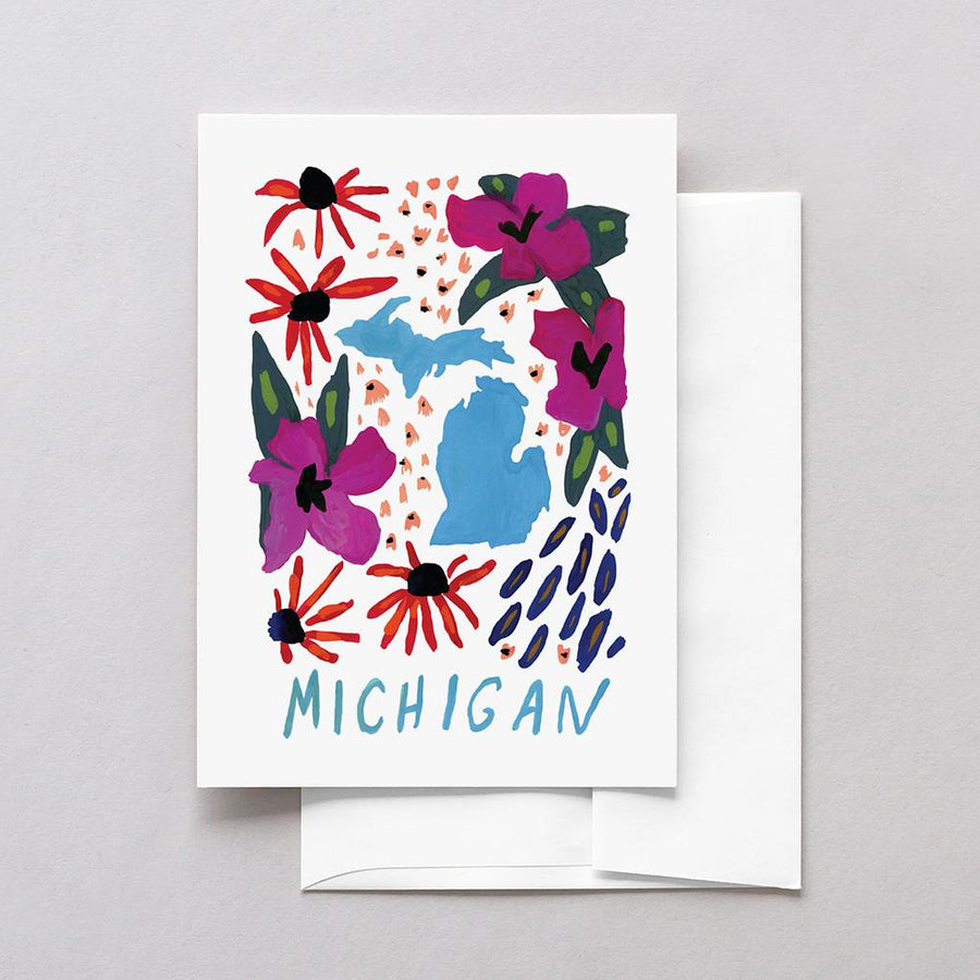 Michigan American Gouache Greeting Card