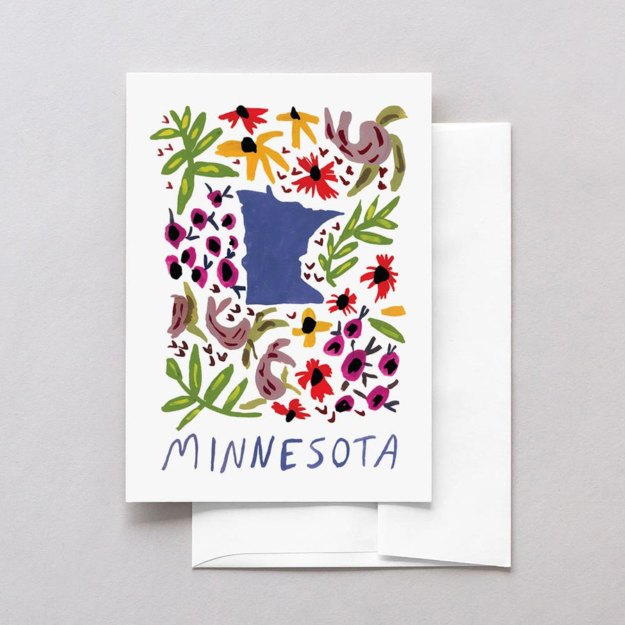 Minnesota American Gouache Greeting Card