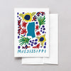 Mississippi American Gouache Greeting Card