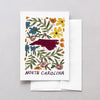North Carolina American Gouache Greeting Card