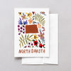 North Dakota American Gouache Greeting Card