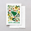 South Carolina American Gouache Greeting Card