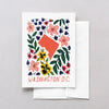 Washington DC American Gouache Greeting Card