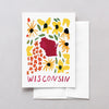 Wisconsin American Gouache Greeting Card