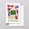 Wyoming American Gouache Greeting Card