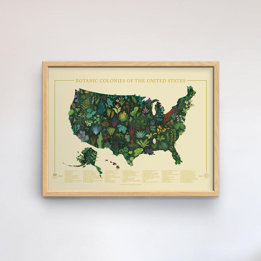 Botanic Colonies of the US Print