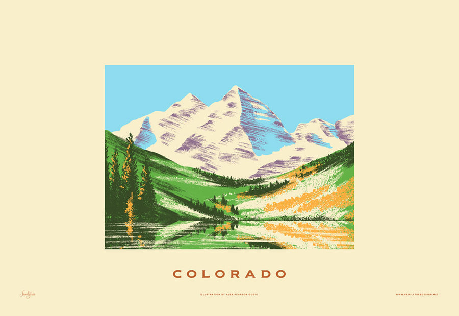 Colorado State Print - Rocky Mountains