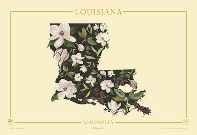 Louisiana Native Botanicals Print