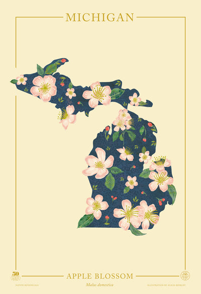 Michigan Native Botanicals Print