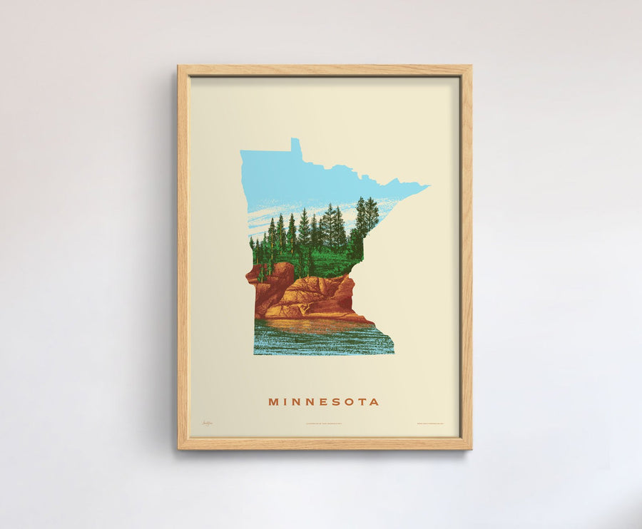 Minnesota State Print - North Shore