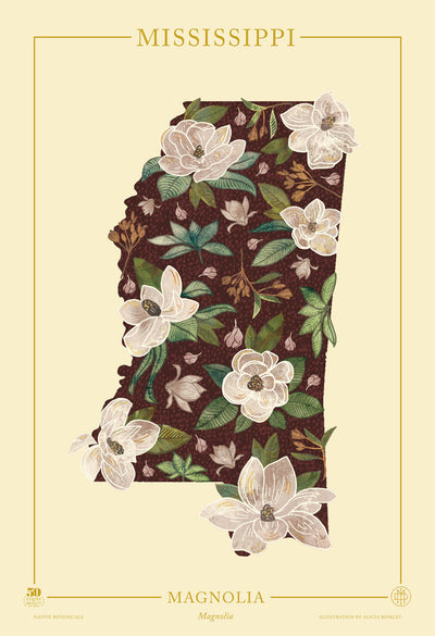 Mississippi Native Botanicals Print
