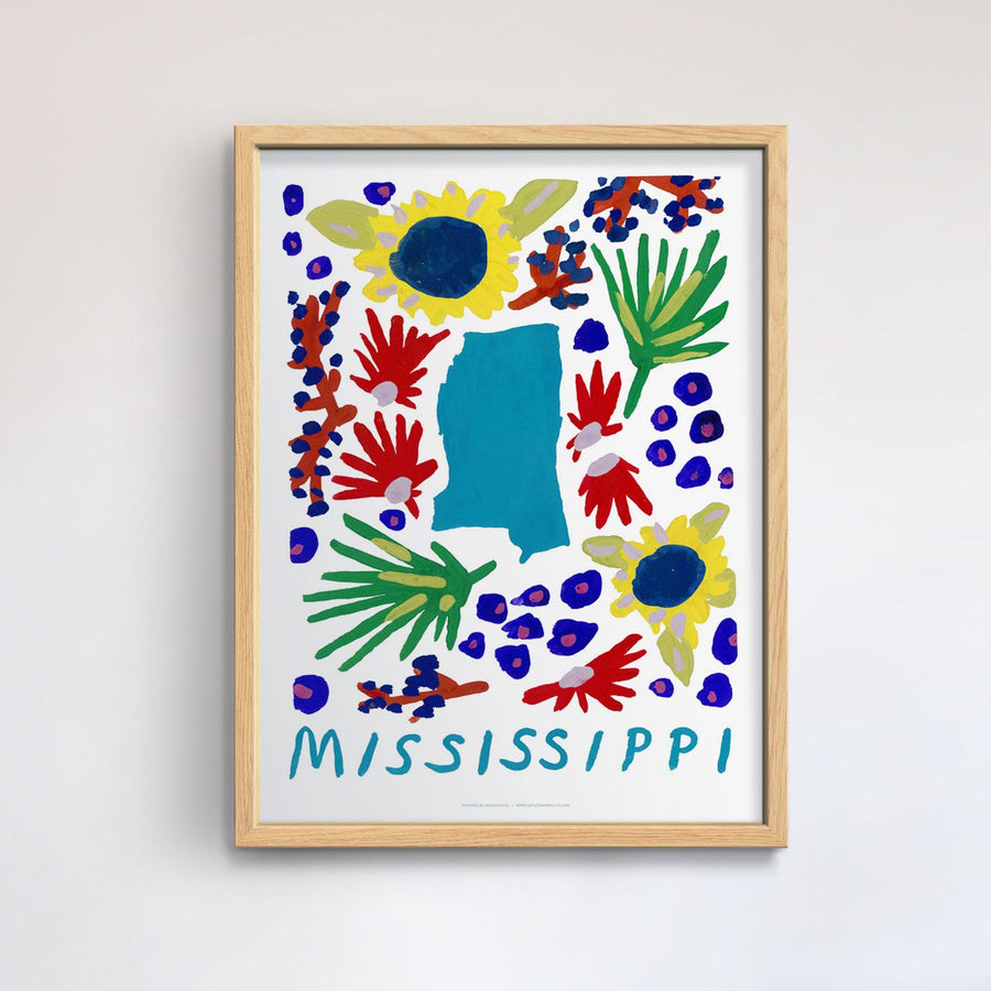 Mississippi American Gouache Print