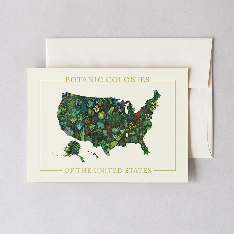 Botanic Colonies of the U.S. Greeting Card