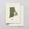 Rhode Island  Native Botanicals Greeting Card