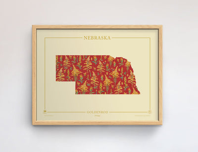 Nebraska Native Botanicals Print