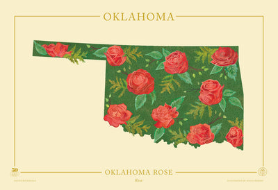 Oklahoma Native Botanicals Print