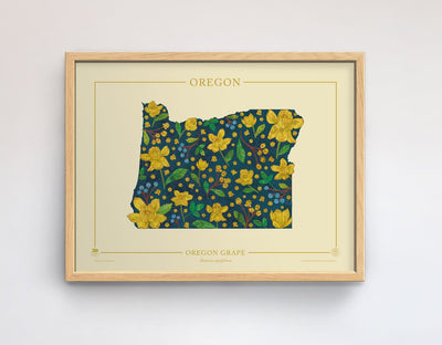 Oregon Native Botanicals Print