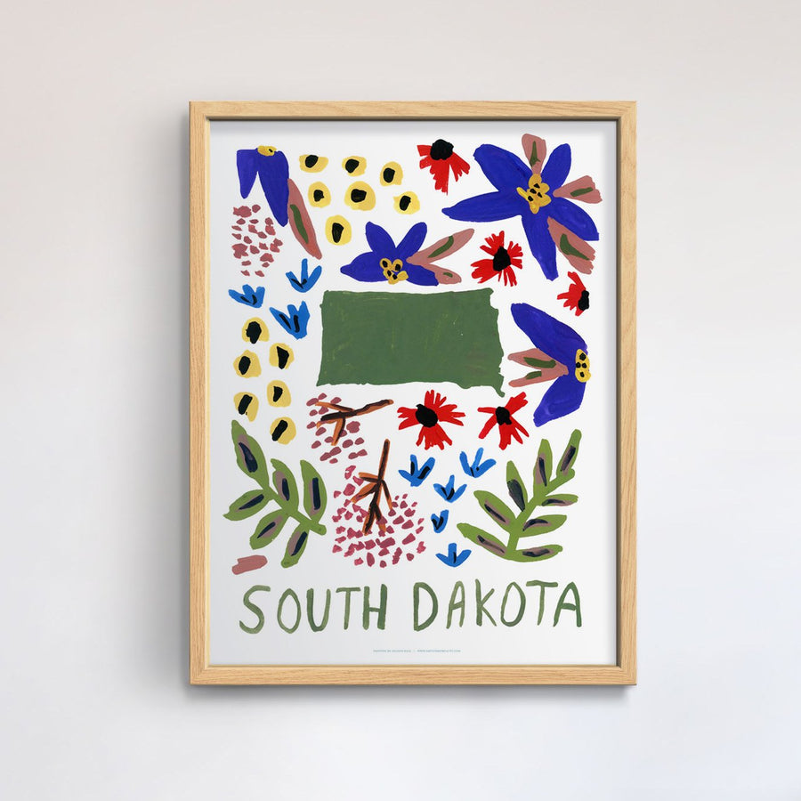 South Dakota American Gouache Print