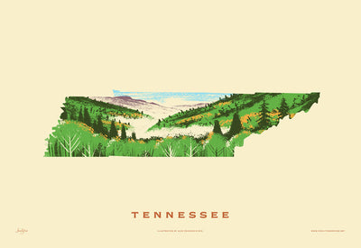 Tennessee State Print - Smoky Mountains