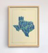 Texas Native Botanicals Print