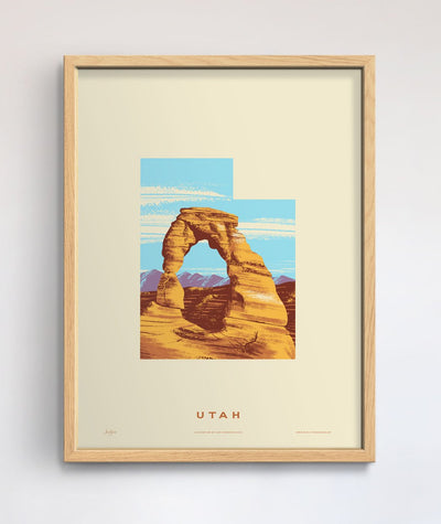 Utah State Print - Arches National Park