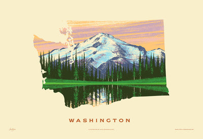 Washington State Print - Mount Rainier
