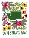 Washington American Gouache Print