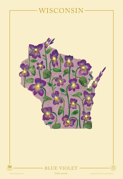Wisconsin Native Botanicals Print