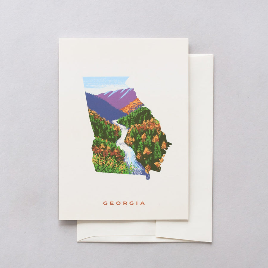 Georgia Tallulah Gorge Greeting Card