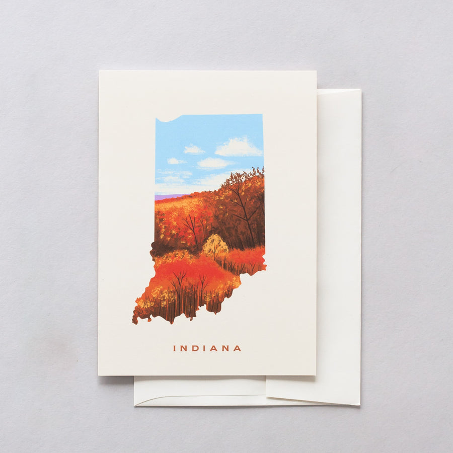 Indiana Brown County Greeting Card