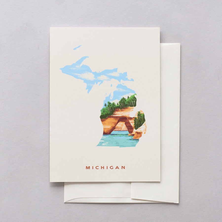 Michigan Pictured Rocks Greeting Card