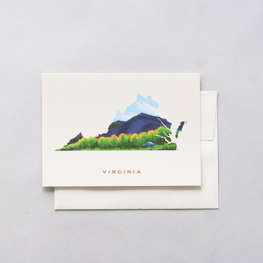 Virginia Blue Ridge Mountains Greeting Card