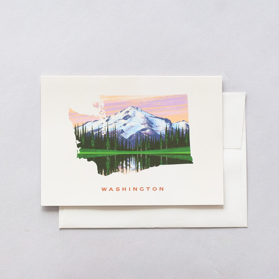 Washington Mount Rainer Greeting Card