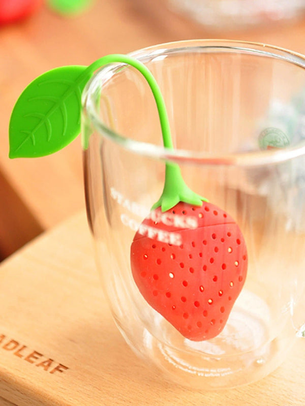 Silica Gel Strawberry Tea Filter 1pc