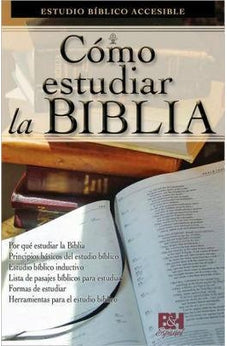 Spanish Pamphlet How To Study The Bible