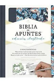 RVR 1960 Biblia De Apuntes Edición Ilustrada Rosado Y Azul, Tela (Pink And Blue Cloth Over Board 9781462746484