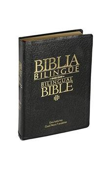 DHH/GNT67 TAPA EN BONDED LEATHER COLOR NEGRO BIBLIA BILINGUE