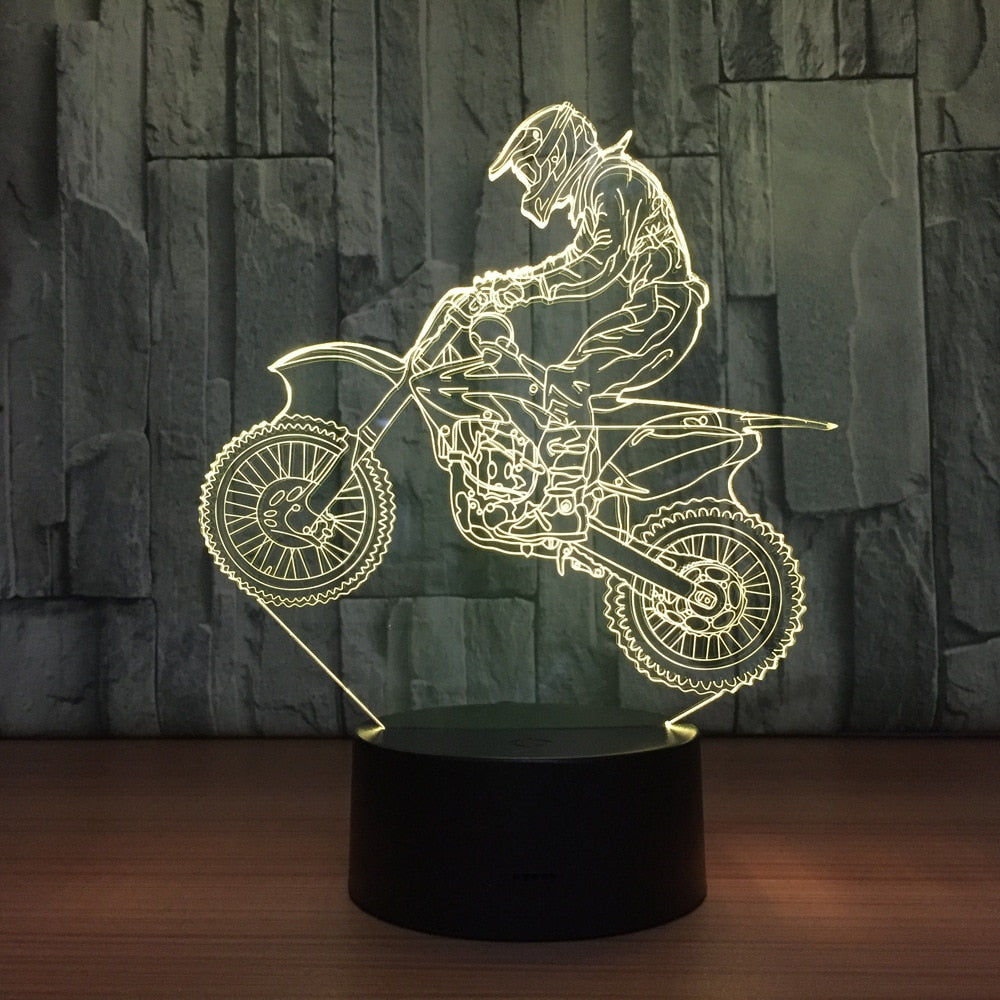 3D Table Lamp Motocross
