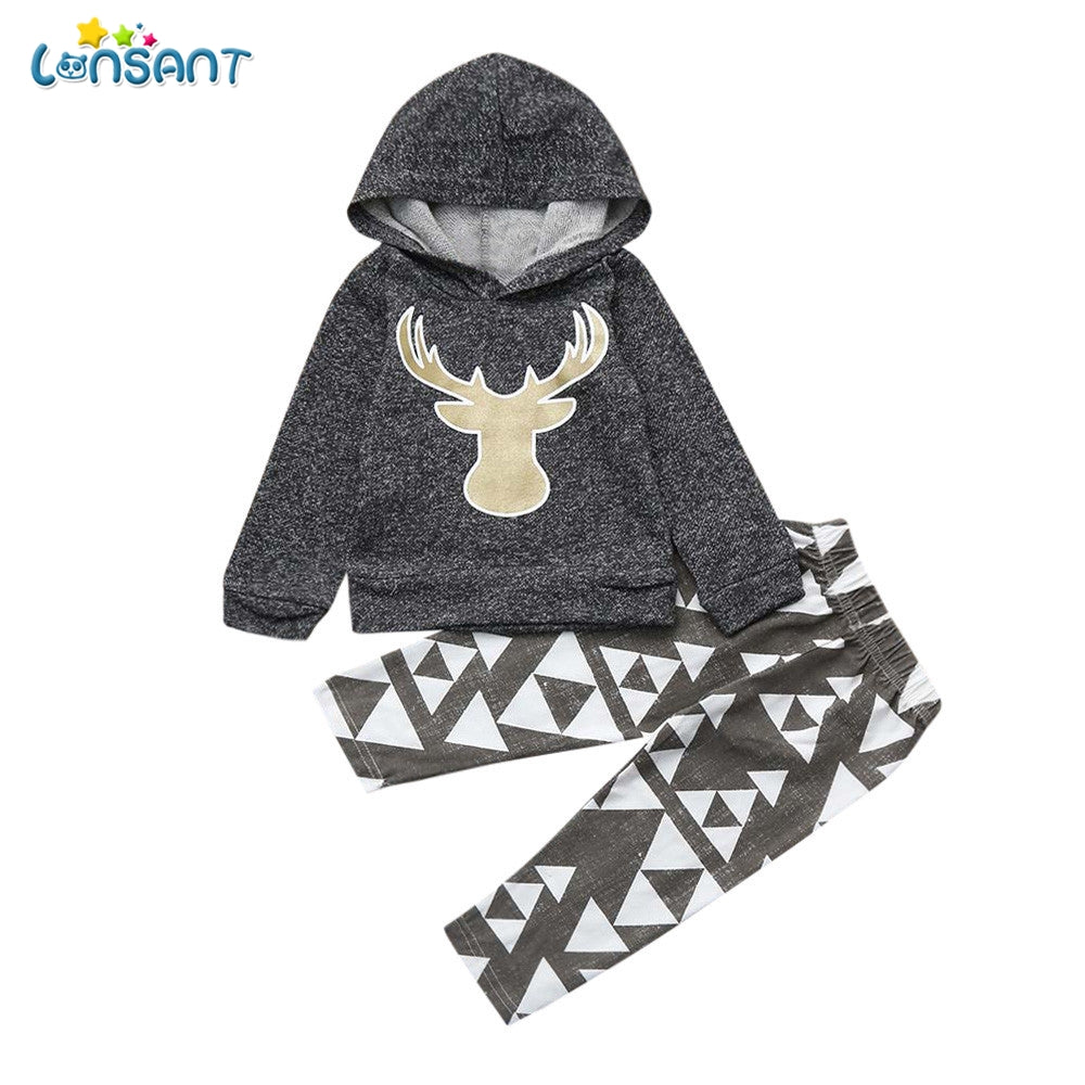 Girl Deer Hooded Set