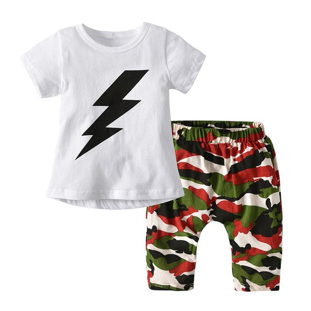 Baby Boy Letter T shirt Set