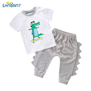 Baby Boys Short Sleeve Dinosaur Set