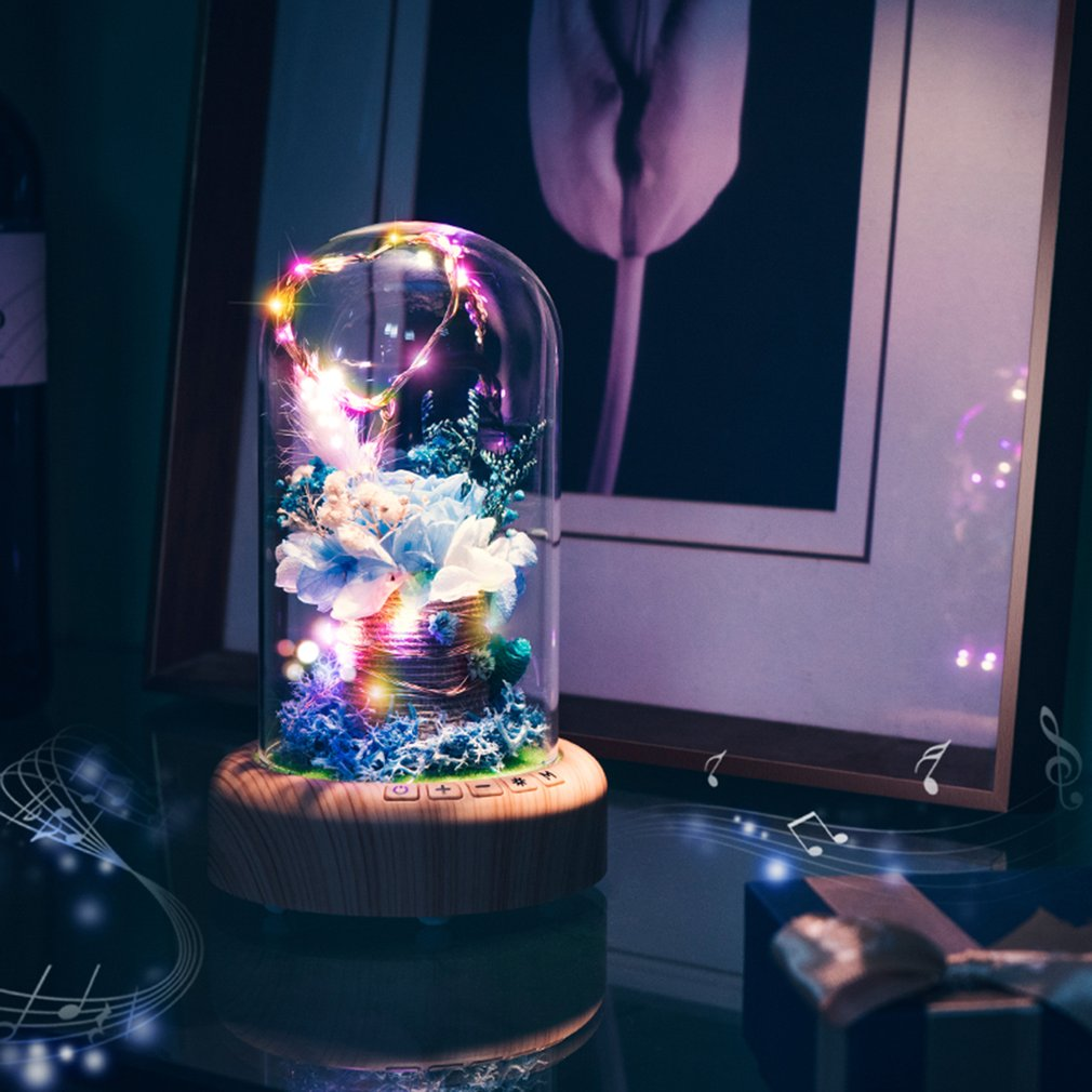 Rose Streamer Bluetooth Speaker Night Light