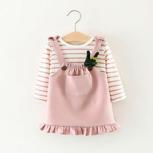 Girls Stripe Long Sleeve