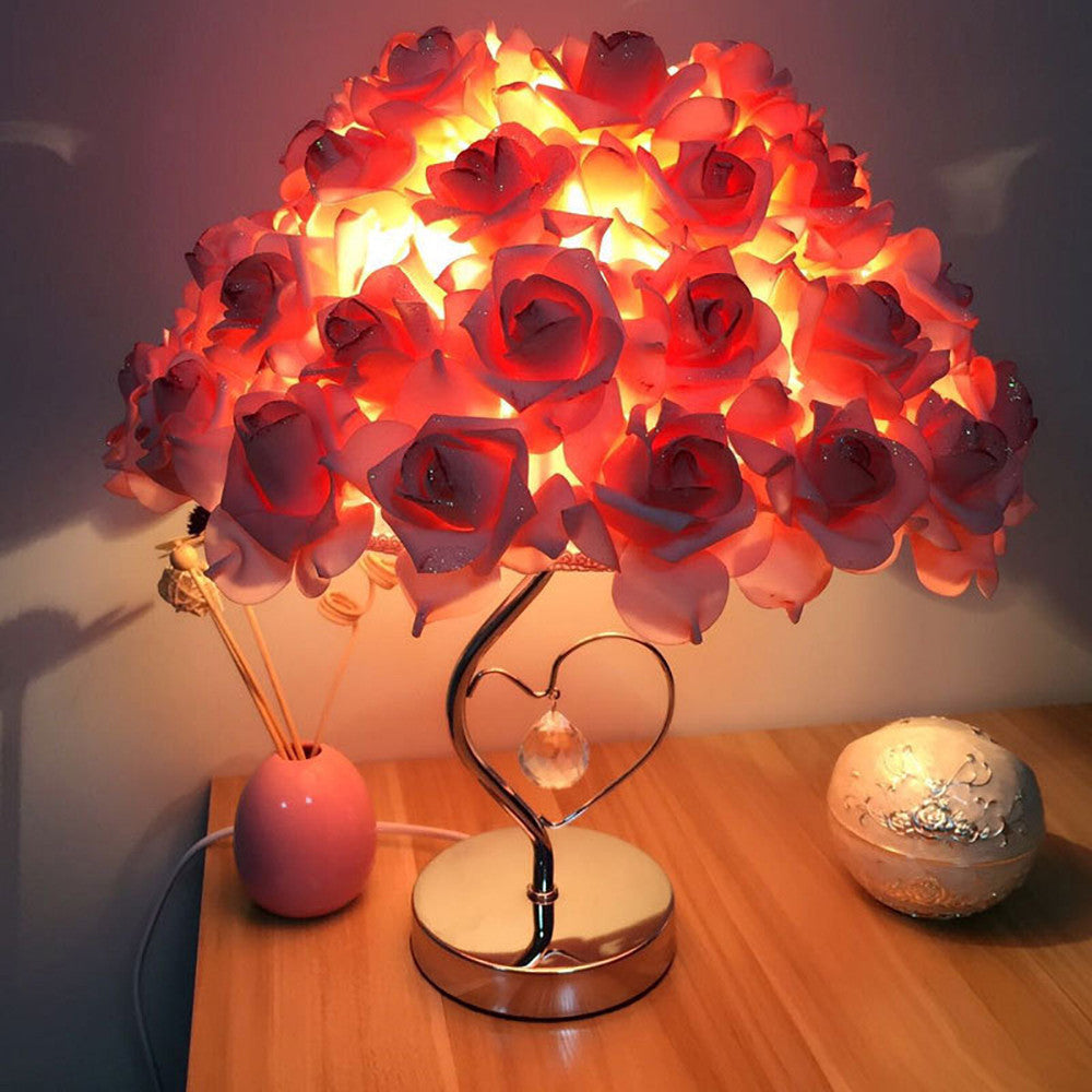 Rose Table Shade Lamp